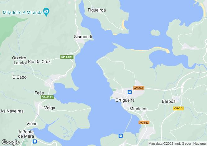 Map for Galicia, A Coruña, Ortigueira