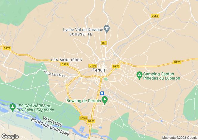 Map for Provence-Alps-Cote d`Azur, Vaucluse, Pertuis