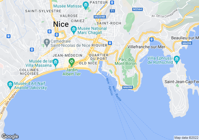 Map for Provence-Alps-Cote d`Azur, Alpes-Maritimes, Nice