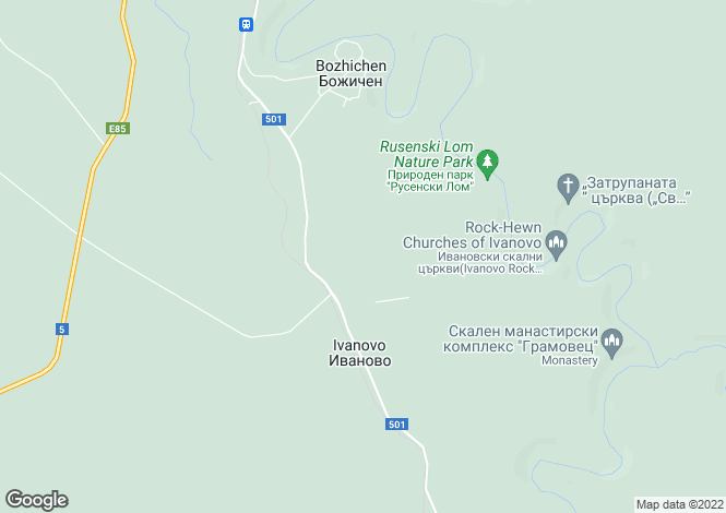 Map for Ruse, Ivanovo