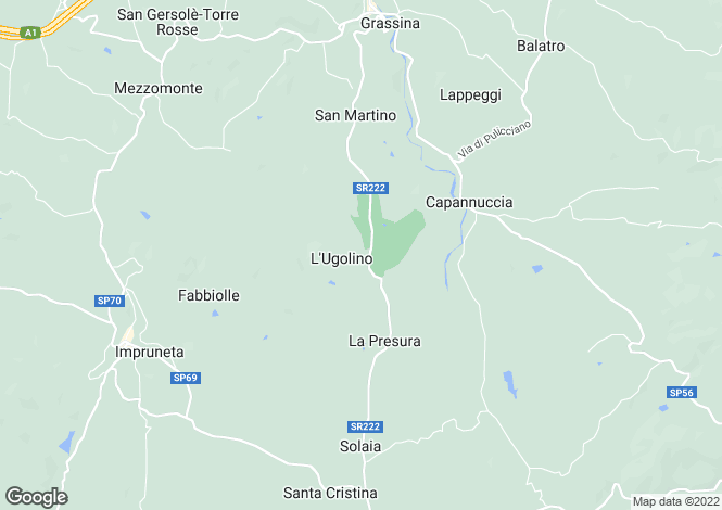 Map for Tuscany, Florence, Impruneta