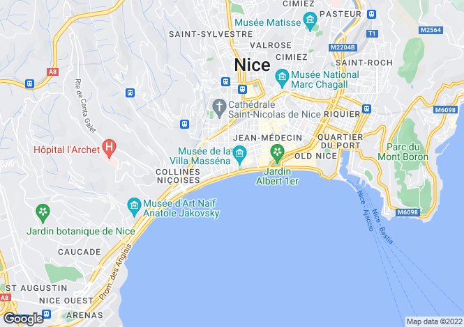 Map for Exceptional Property, Carre D'Or, Nice