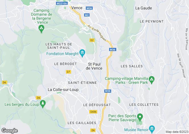 Map for La Colle Sur Loup, Saint Paul de Vence, French Riviera