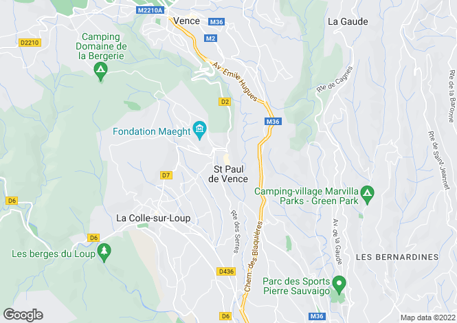 Map for Saint-Paul-De-Vence, Alpes-Maritimes, 06570, France