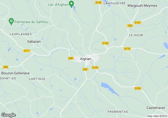 Map for Midi-Pyrénées, Gers, Aignan