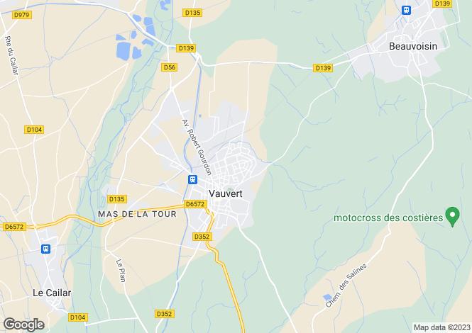 Map for Vauvert, Languedoc-Roussillon, 30600, France