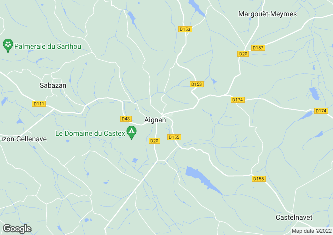 Map for aignan, Gers, France