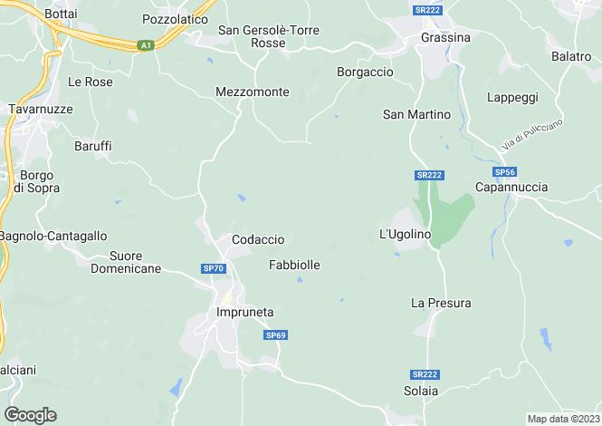 Map for Impruneta, Italy