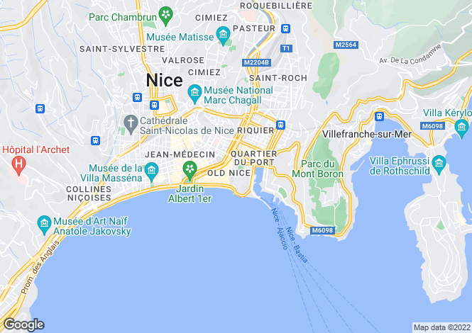 Map for Montée Menica Rondelly, Vieux Nice