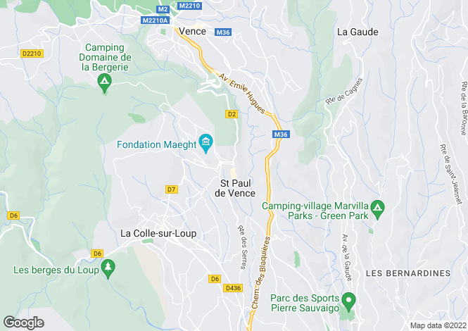 Map for Provence-Alps-Cote d`Azur, Alpes-Maritimes, Saint Paul De Vence