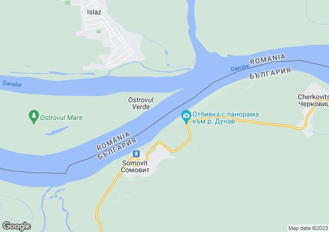 Map for Pleven, Somovit