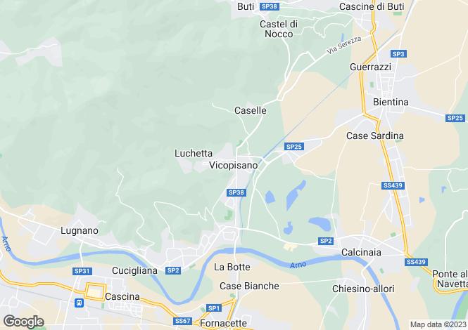Map for Vicopisano, Tuscany, Italy