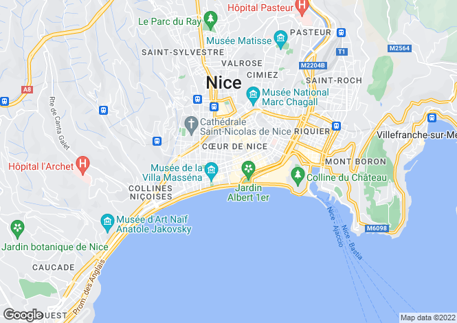 Map for Boulevard Victor Hugo, Nice, French Riviera