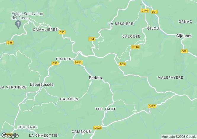 Map for berlats, Tarn, France