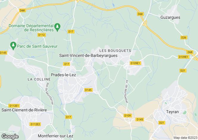 Map for ASSAS, Herault (Montpellier, Pezenas), Occitanie,