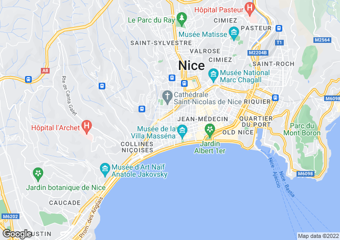 Map for Nice, Alpes-Maritimes, Provence-Alps-Cote d`Azur
