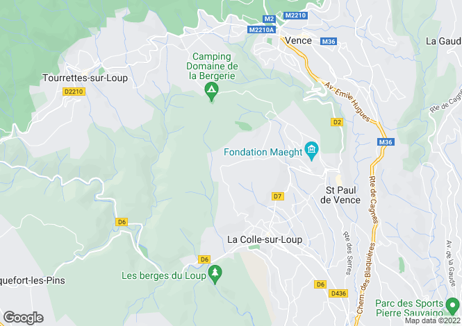 Map for LA COLLE SUR LOUP, Vence, St. Paul Area, French Riviera,
