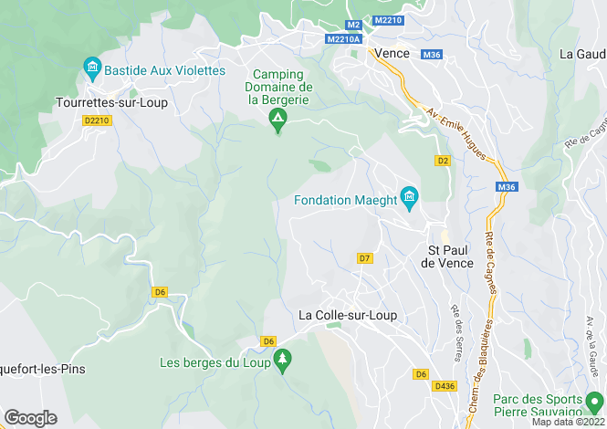 Map for La Colle Sur Loup, Provence-Alpes-Cote D'azur, 06480, France