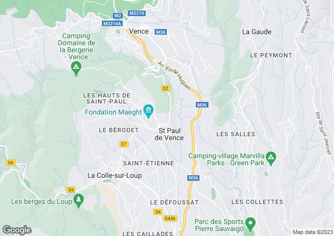 Map for Les Hauts de St Paul, St Paul de Vence, France
