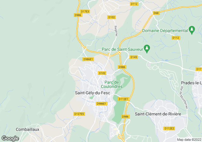 Map for ST GELY DU FESC, Montpellier Area, Languedoc,