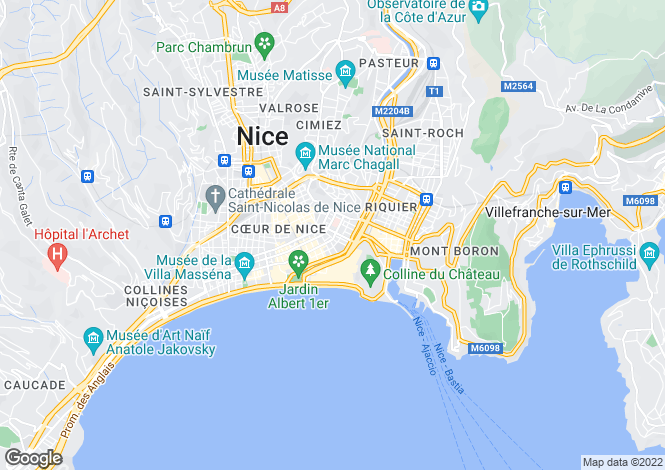 Map for Wilson Plaza, Nice, French Riviera