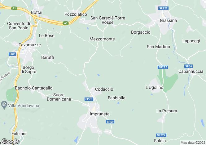 Map for Casa Pozzolatico, Impruneta, Tuscany, Italy