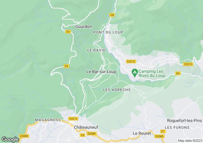 Map for Le Bar-Sur-Loup, Alpes-Maritimes, 06620, France