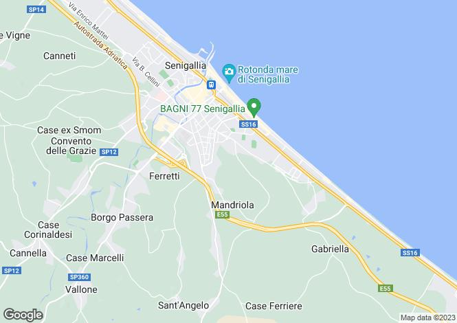 Map for Le Marche, Ancona, Senigallia