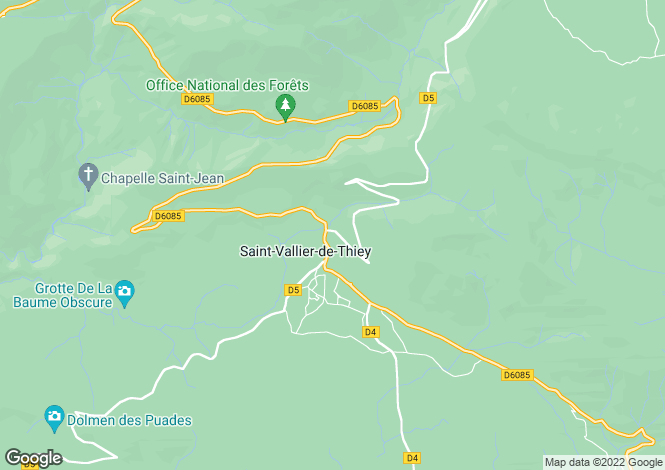 Map for Saint-Vallier-de-Thiey, 06460, France