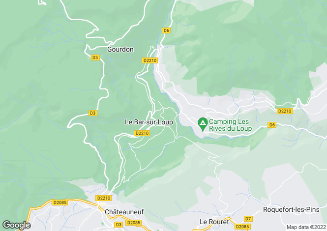 Map for LE BAR SUR LOUP, Grasse Area, Riviera,