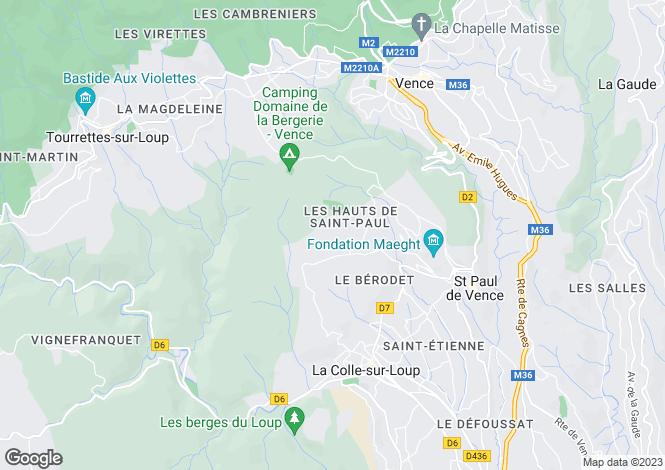 Map for Provence-Alps-Cote d`Azur, Alpes-Maritimes, Saint Paul De Vence