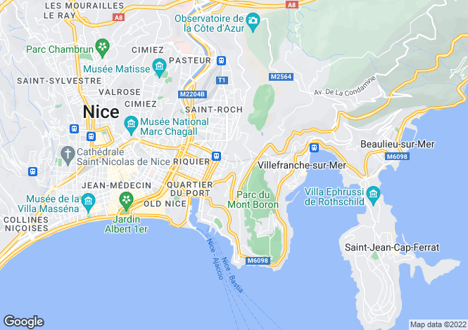 Map for Nice, Nice, French Riviera