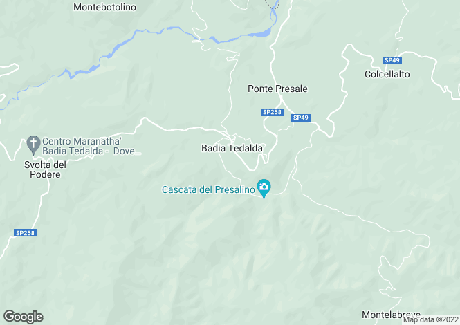 Map for Badia Tedalda, Arezzo, Tuscany