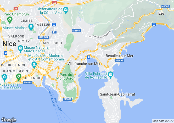 Map for Recently Renovated Villa, Villefranche, Alpes Maritimes