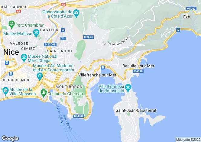 Map for Villefranche-sur-Mer, 06230, France