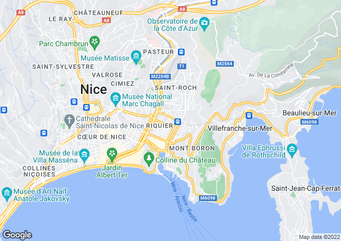 Map for nice, Alpes-Maritimes, France