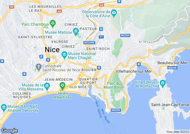 Map for Nice (Cap de Nice), 06300, France