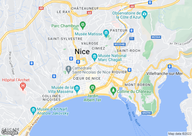 Map for 5th Floor Apartment, Nice Centre, Alpes Maritimes