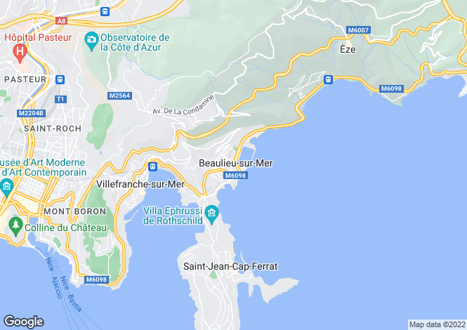 Map for Beaulieu-Sur-Mer, Alpes-Maritimes, Provence-Alps-Cote d`Azur