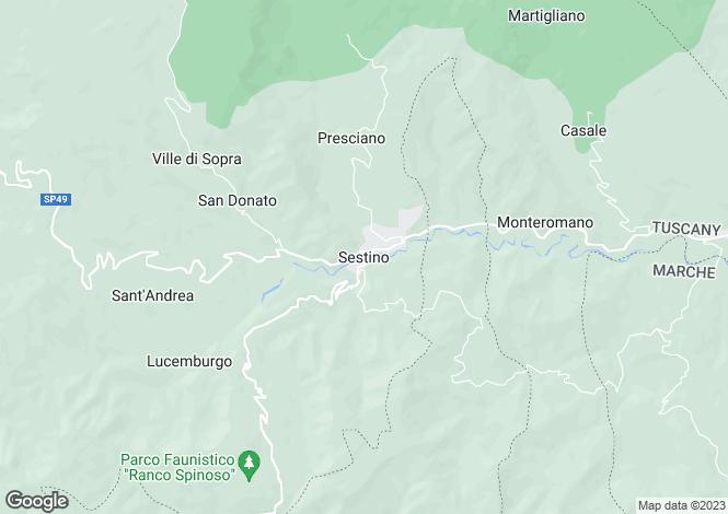 Map for Sestino, Tuscany, Italy