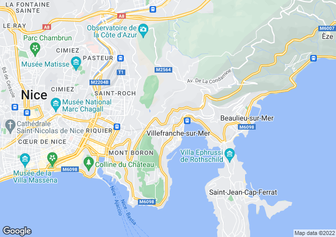 Map for Roof Top Villa, Villefranche-Sur-Mer