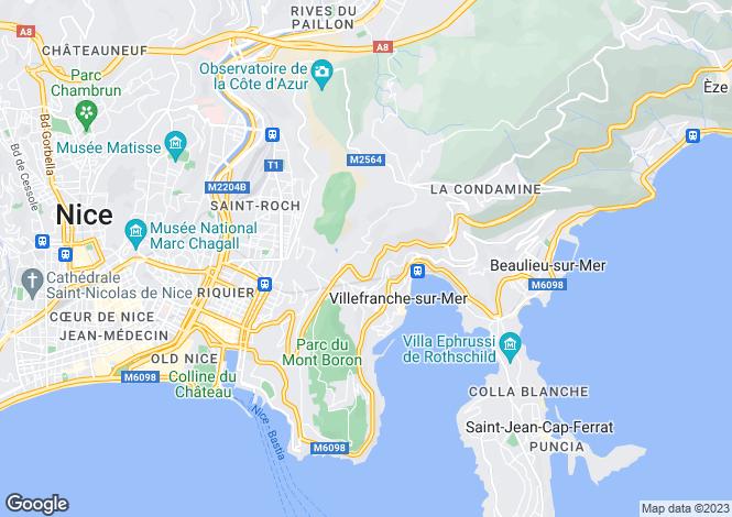 Map for Villefranche-sur-Mer, Alpes-Maritimes, Provence-Alps-Cote d`Azur