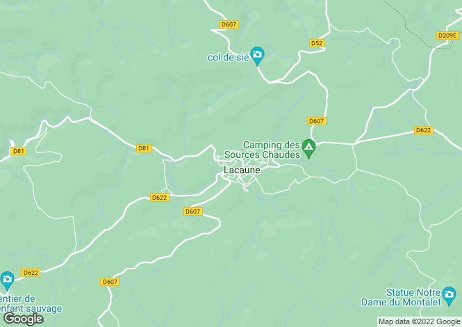 Map for lacaune, Tarn, France
