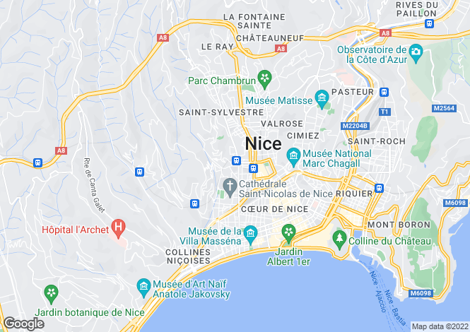 Map for Nice, Alpes-Maritimes, 06100, France