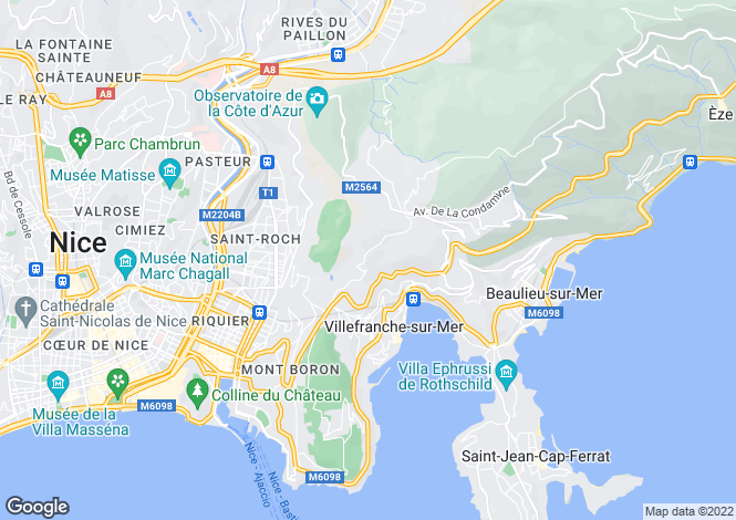 Map for Nice, French Riviera