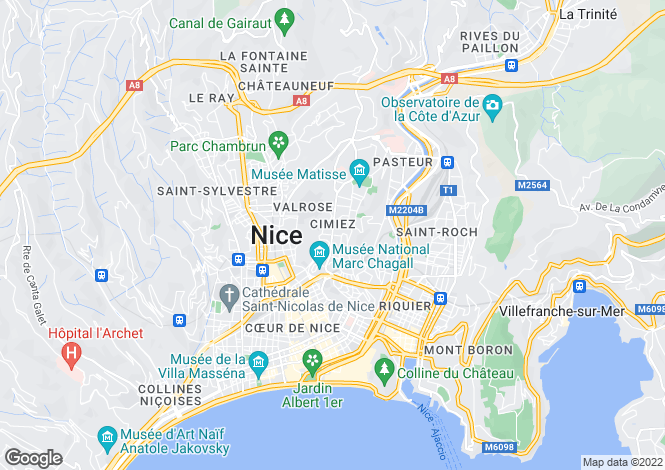 Map for Nice, Alpes-Maritimes, 06000, France