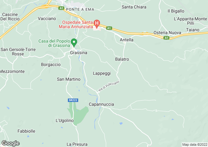 Map for Firenze, Bagno A Ripoli, 50012, Italy