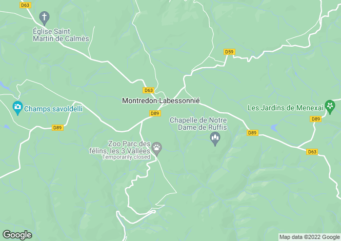 Map for montredon-labessonnie, Tarn, France