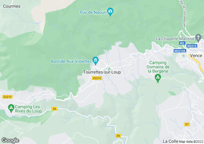 Map for Tourrettes-Sur-Loup, Alpes-Maritimes, 06140, France