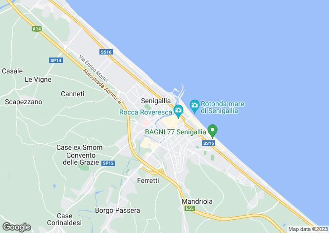 Map for Senigallia, Ancona, Le Marche